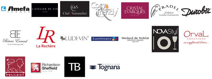 Table deco logos marques